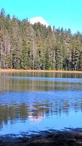 Mt Hood Behind Upper Twin Lake