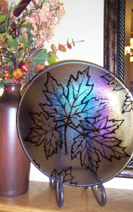 Maple Leaf Glass Bowl