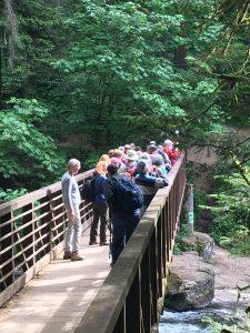 Hikers on the Bridge