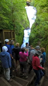Hikers at Bridal Veil Falls