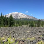 View of Mt St Helens from the Lava Flow